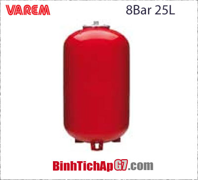 Bình giãn nở Varem 8 bar 25Lit