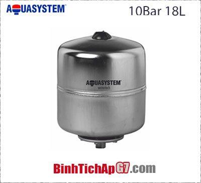 Bình tích áp Inox Aquasystem 10 bar - 18Lít