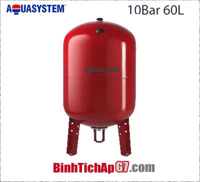 Bình tích áp đứng Aquasystem 10 bar - 60Lít