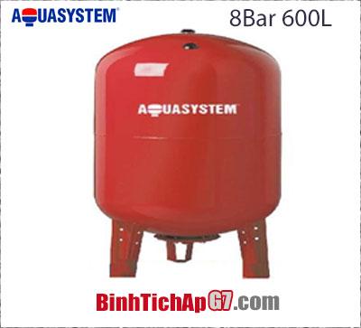 Bình giãn nở Aquasystem 8bar 600Lít