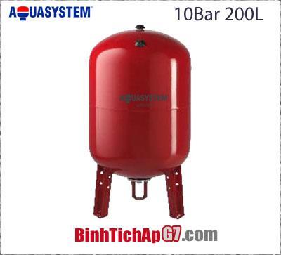 Bình tích áp Aquasystem 10 bar - 200Lít
