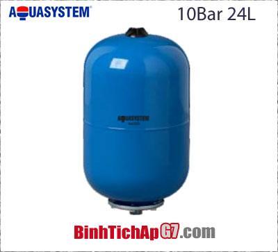 Bình tích áp Aquasystem 10 bar - 24Lit
