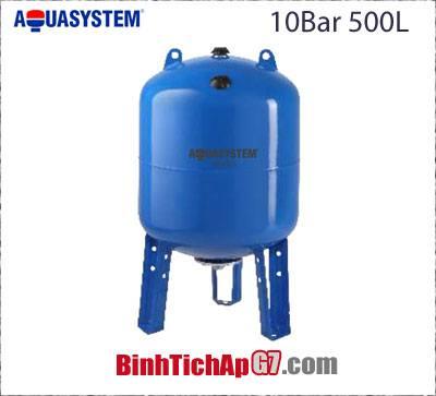 Bình tích áp Aquasystem 10bar-500Lít