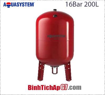 Bình tích áp Aquasystem 16 bar - 200Lít