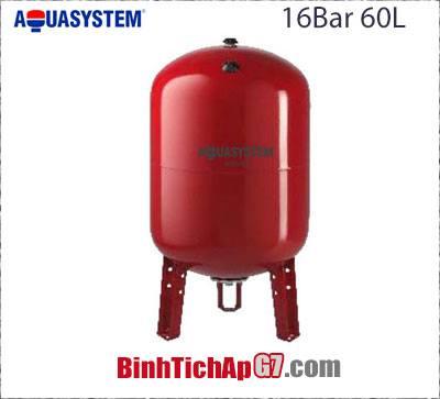Bình tích áp Aquasystem 16 bar- 60Lít