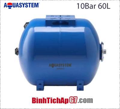 Bình tích áp ngang Aquasystem 10 bar - 60Lít