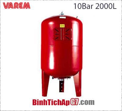 Bình tích áp Varem 10 bar 2000L
