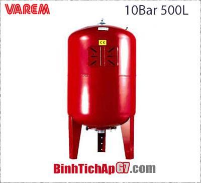 Bình tích áp Varem 10 bar 500L