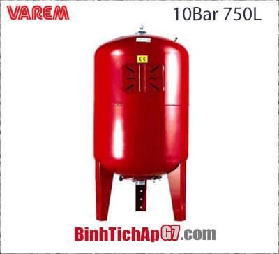 Bình tích áp Varem 10 bar 750L