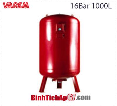 Bình tích áp Varem 16 bar 1000L