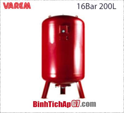 Bình tích áp Varem 16 bar 200L